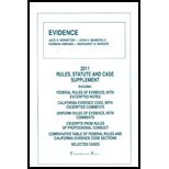 Evidence- Rules Statute & Case Supp - 2011 11 by Paperback 2011  ebook by n/a